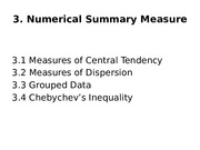 Chapter 3. Numerical Summary Measures
