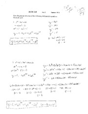 Test 2 Solution on Applied Differential Equations