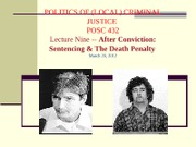 2012.03.20 Lecture Week 9 Sentencing and Death  (2012 lecture) (1)