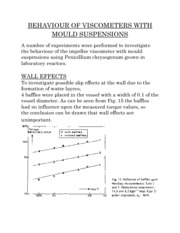 BEHAVIOUR OF VISCOMETERS WITH MOULD SUSPENSIONS