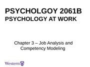 Lecture 2 Job Analysis