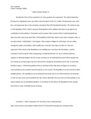 Critical Analysis Report 11