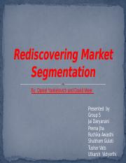 group 5 rediscovering market segmentation Revised.pptx
