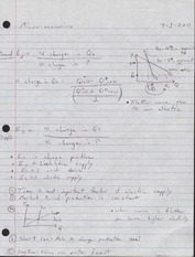 Lecture Notes Supply & Demand Elasticity