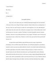 Literary Analysis Paper for Things Fall Apart.docx