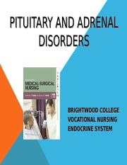 PITUITARY AND ADRENAL DISORDERS.4-16