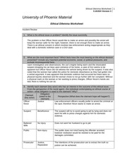 ethecial delima worksheet Step by step guidance on ethical decision making, including identifying stakeholders, getting the facts, and applying classic ethical approaches.