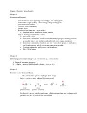 Organic Chemistry Notes Exam 1.docx