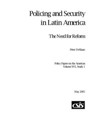 DeShazo - Policing and Security in Latin America, The Need for Reform
