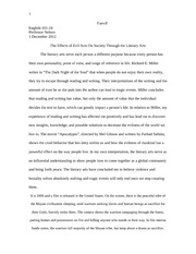 ENG 101 Dark Night of the Soul Essay