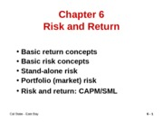 risk and return_CHAPTER 6
