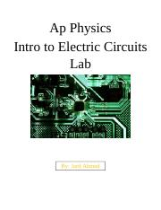 Ap Physics Intro to Electric Circuits Lab.docx