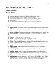 Principles of Social Research MID TERM STUDY GUIDE.doc