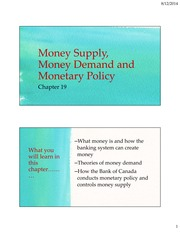 Ch 19 Money Supply, Money Demand and Monetary Policy-3