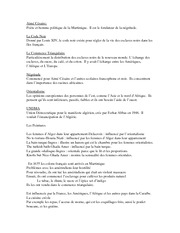 Study Guide for French Colonies Test FRE 304w