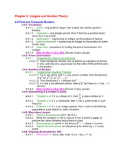 Lecture Notes on Prime and Composite Numbers