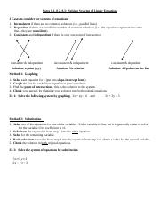 Systems of Equations (8.1-8.3) notes