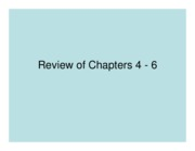 Review of Chapters 4 - 6 PRS