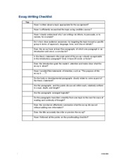 revising and editing checklist expository essay