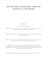 tootsie roll loan package Loan package tootsie roll industries inc loan package the financial  statement of tootsie roll industries provides insightful details into the.