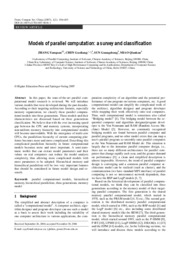 Modles of parallel computation_ a survey and classification
