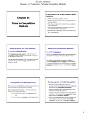 EC120 - Chapter 14 Notes