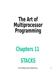 Art of Multiprocessor Programming--ch11