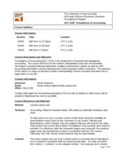 Syllabus ACC 310F Fall 2013