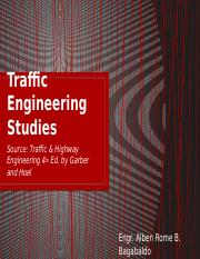 Traffic Engineering Studies