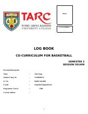 Basketball Logbook (Dear Fang )