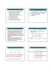 3.2 Chapter 14 Chemical Kinetics (6 per page)