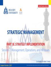 07 - Management, Operations and HR Issues