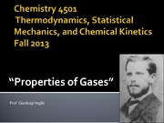 Chemistry 4501-Properties of Gases