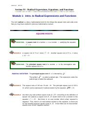 Module1_Intro_to_Radical_Expressions_and_Functions