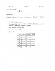 Exam 2 Solution on Calculus 1
