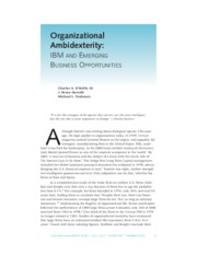 IBM and Emerging business opportunities