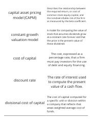Finance-Chapter 11-Cost of Capital-Vocabulary Flashcards
