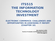 T10 - E-COMMERCE CHALLENGES AND OPPORTUNITIES IN IT PAYOFF