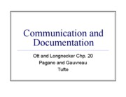 25 Communication and Documentation