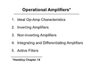 Lect11-Ch14-OpAmps