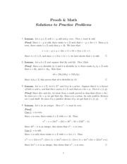 Spring 2015 Proofs Practice Solutions