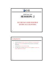 Microsoft PowerPoint - Session 2 Accruals and double entry system