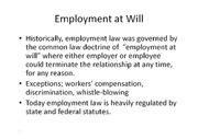 Employment, Immigration, & Labor Law notes