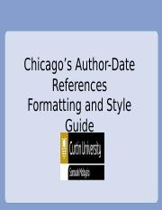 Chicagos reference formatting and style guide.ppt