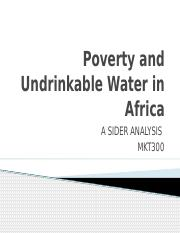 Poverty and Undrinkable Water in Africa.pptx