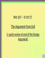 PHI107.Lect.9.19.17.Argument from Evil.ppt