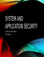 System and application security
