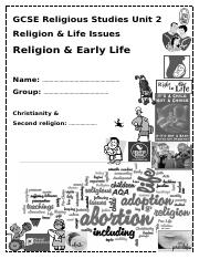Early life booklet