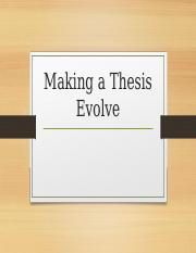 making a thesis evolve.ppt