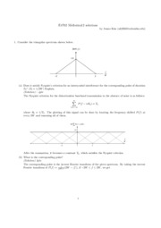 E4702 Fall 2004 Midterm Solutions